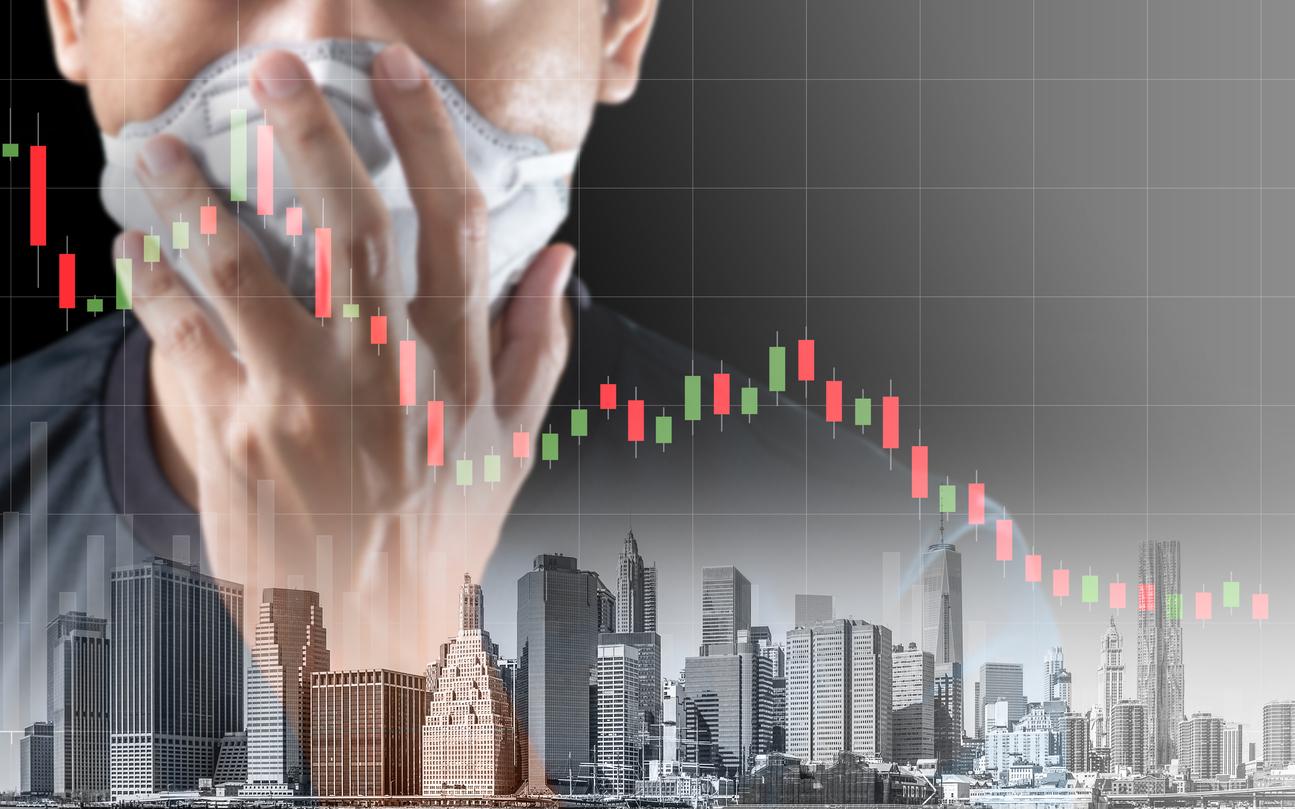 Concept of economic recession during the coronavirus crisis
